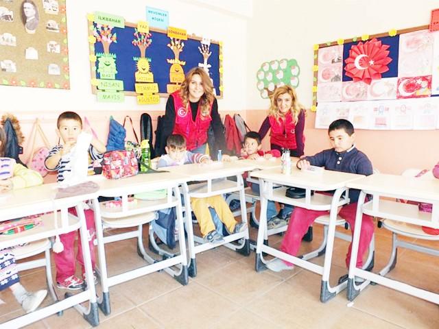 Gençlik Hizmetleri'nden  köy okuluna ziyaret