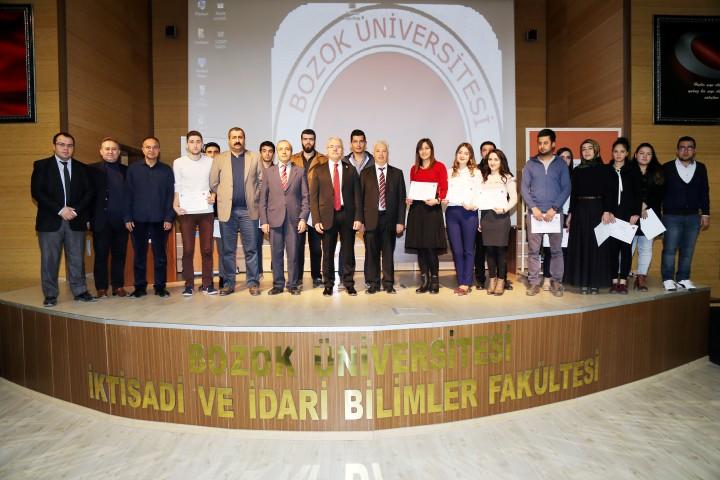 Öğrencilere girişimcilik  sertifikası verildi