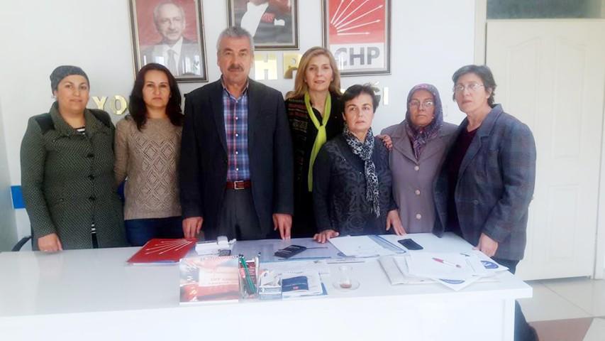 CHP Yozgat Merkez ilçe Kadın  Kolları Başkanlığında Aydın dönemi