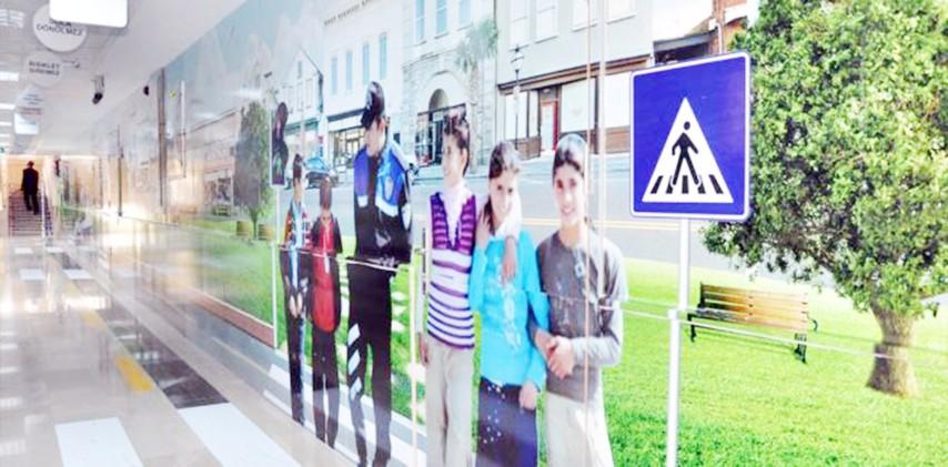 """İlk kez """"Trafik Eğitim  Koridoru"""" oluşturuldu"""