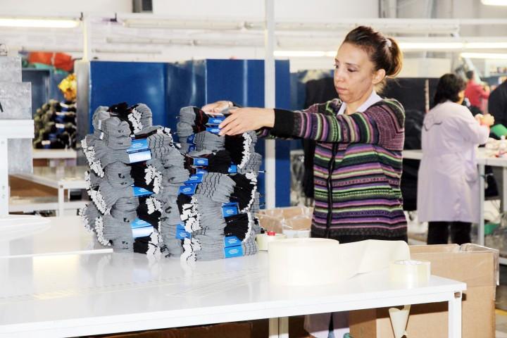 Avrupa'ya yıllık 36 milyon çift çorap ihraç ediliyor