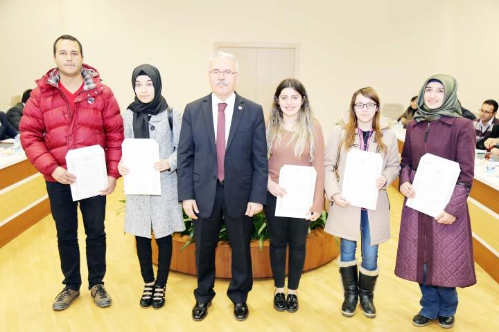 YöK'ten 7 öğrenciye  kutlama belgesi