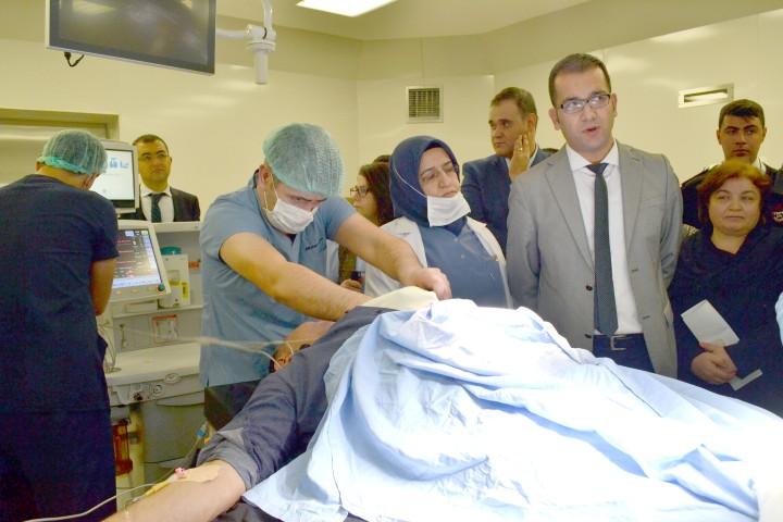 Yozgat Şehir Hastanesinde hasta  uygulamaları devam ediyor