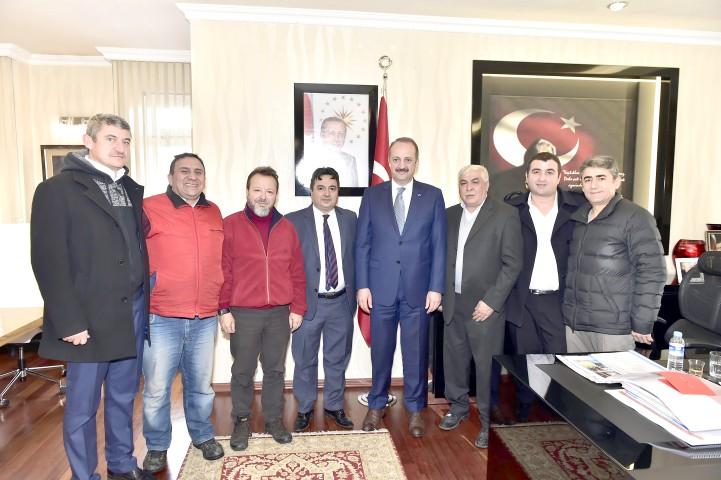 Bazlambaçlılar'dan  Akgül'e tanışma ziyareti