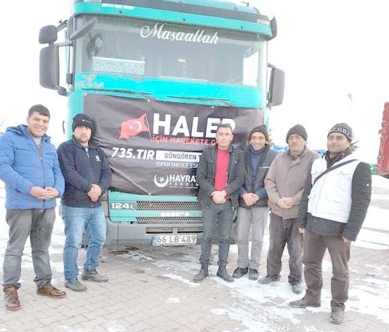Halep'e 735.nci yardım TIR'ı gönderildi