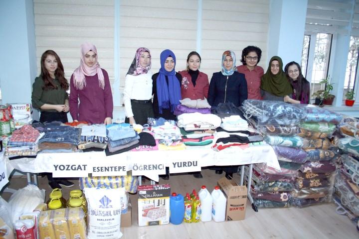 KYK öğrencileri'nden Halep'e yardım