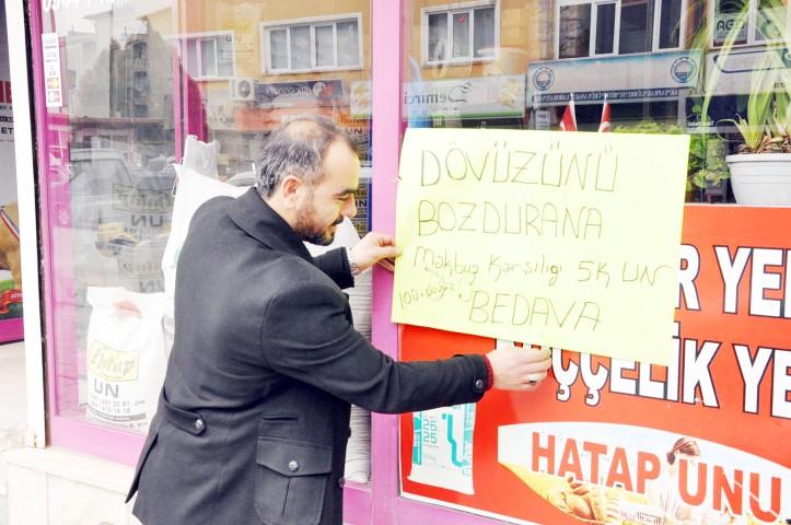 Yerköy esnafı Türk  lirasına sahip çıkıyor