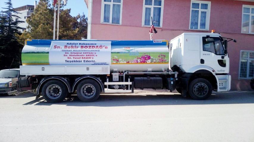 Çekerek Belediyesine yeni arazöz aracı