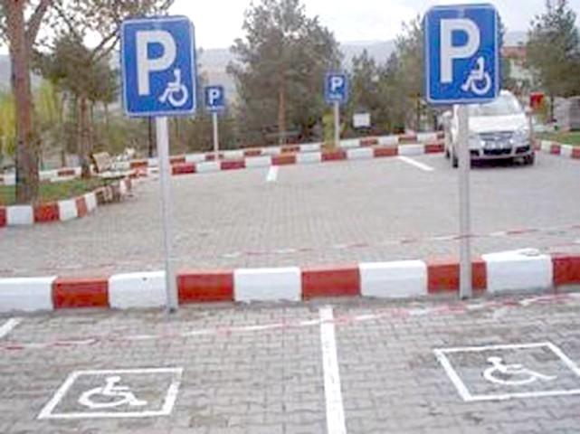 Engelli yerine araç  park etme cezası 109 lira