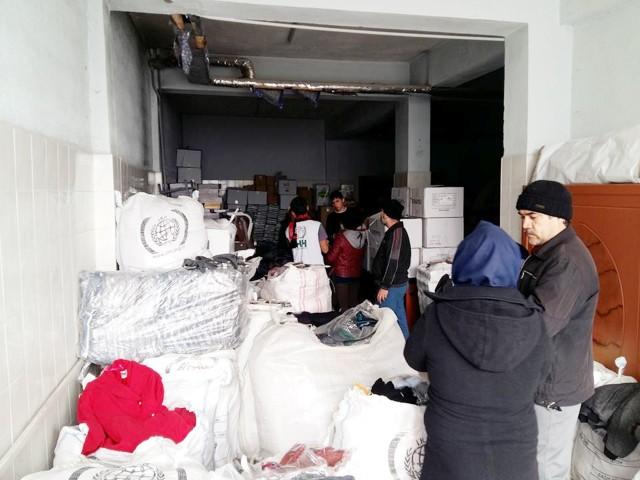 iHH'dan mülteci  ailelere yardım