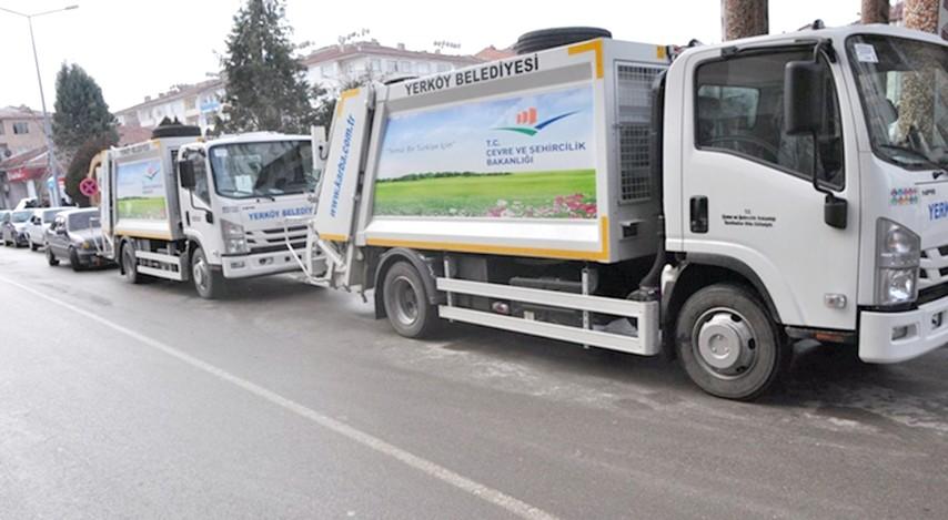 Yerköy Belediyesi'ne 2 temizlik aracı