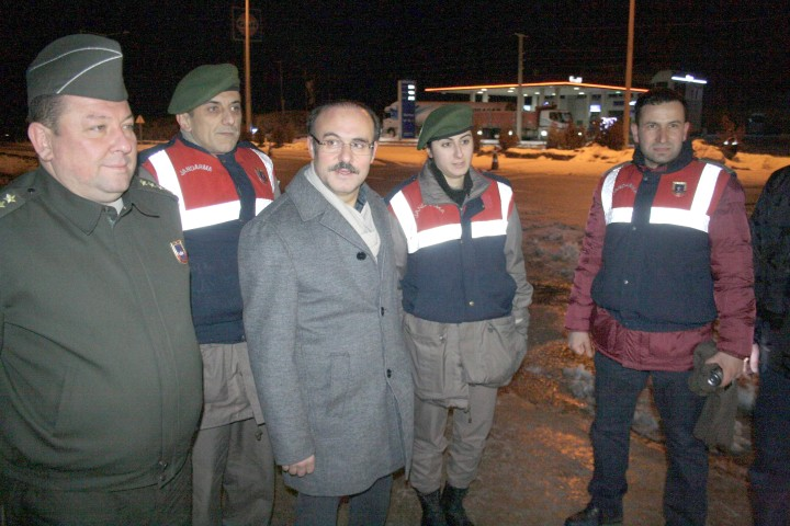 Yurtnaç, emniyet ve jandarma  personelinin yeni yılını kutladı