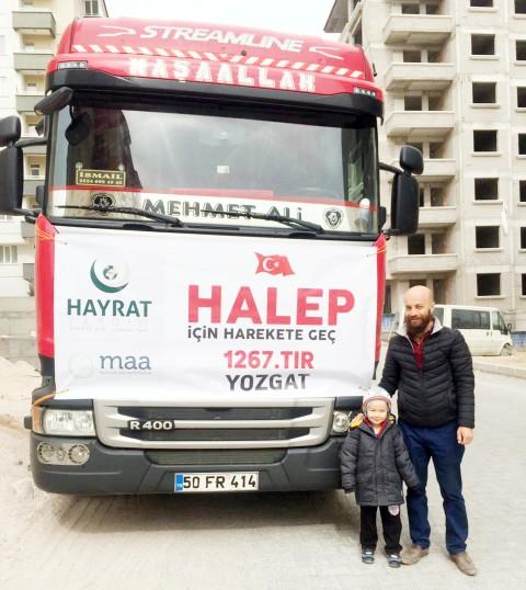 Hayrat İnsani Yardım Suriye'ye Bin 267. Yardım TIR'ını uğurladı