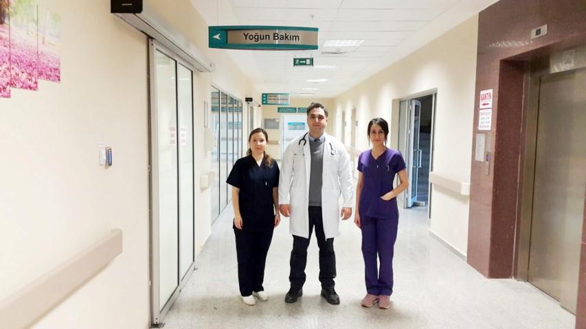Akdağmadeni Devlet Hastanesinde  174 hasta yoğun bakımda tedavi gördü