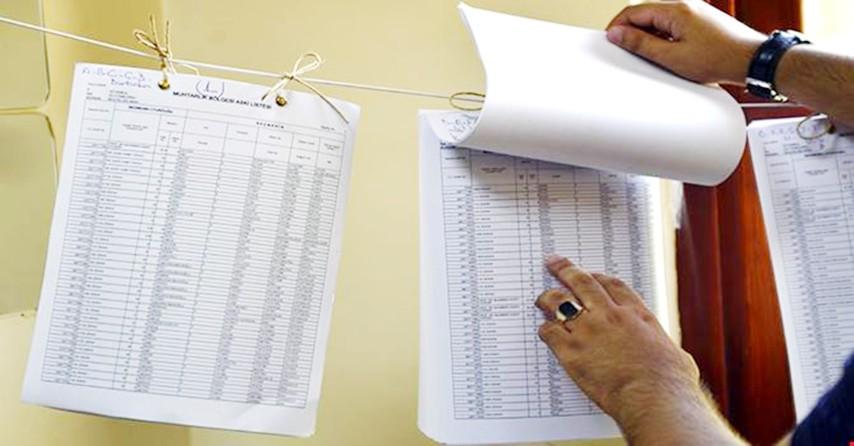 Seçmen listelerinde adınızı kontrol edin