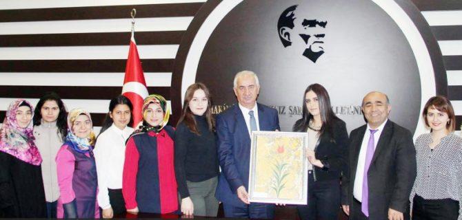 Öğrencilerden Başkan Daştan'a teşekkür ziyareti