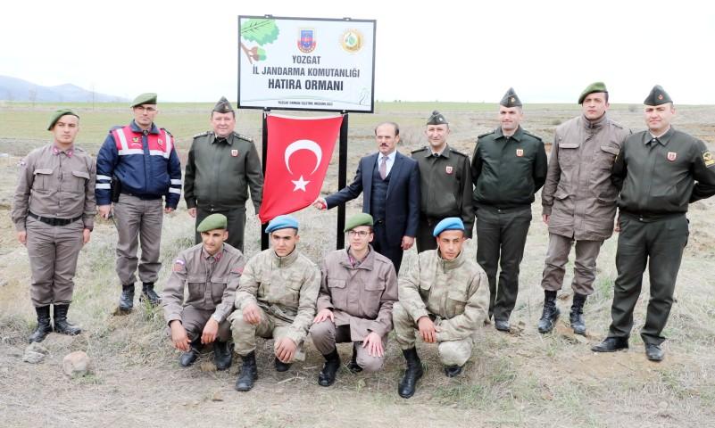 Jandarma ekipleri hatıra ormanı oluşturdu