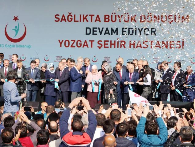 Yozgat Şehir Hastanesini  Başbakan Yıldırım açtı