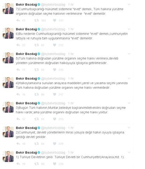Bakan Bozdağ'dan referandum paylaşımı