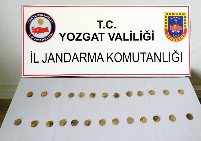 Yozgat Jandarması tarihi eser ele geçirdi