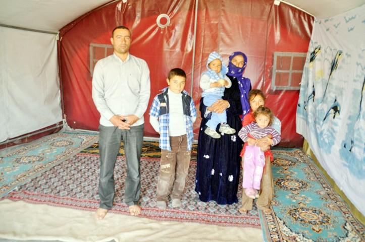 Yozgat'a gelen mevsimlik  tarım işçileri çadırlarına yerleşti