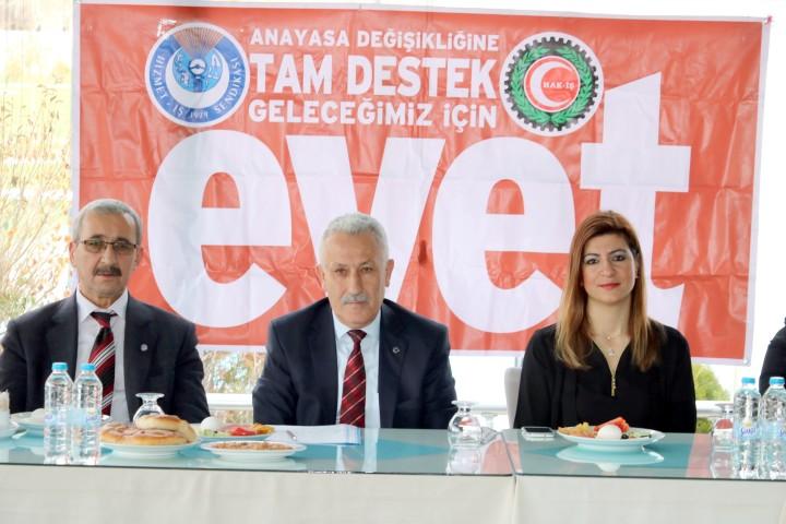 Yozgat'ta Hak-İş referandum da 'evet' diyecek