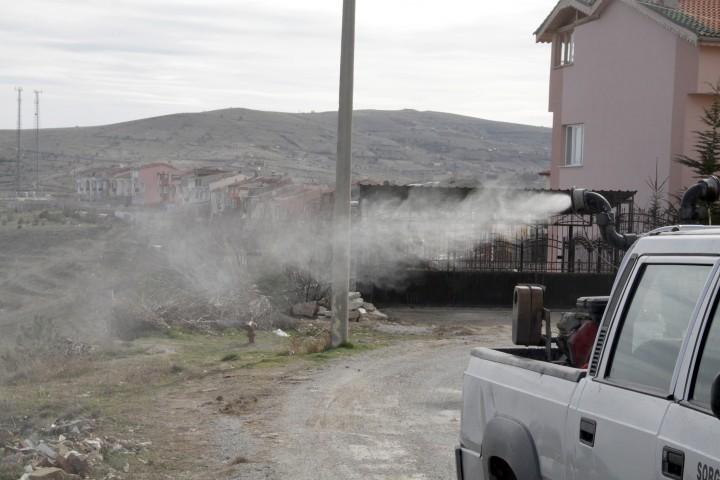 Sorgun Belediyesi haşerelere  karşı ilaçlama çalışmalarına başladı