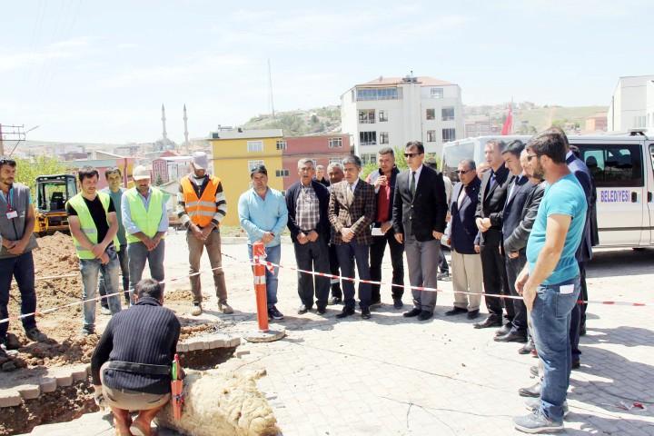 Sarıkaya'da doğalgaz  çalışması devam ediyor