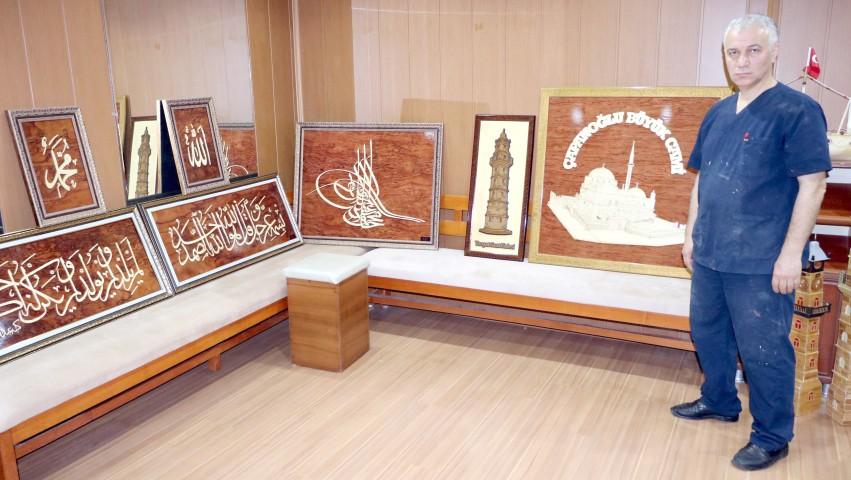 Akkaya, 35 yıldır Naht  sanatını yaşatıyor