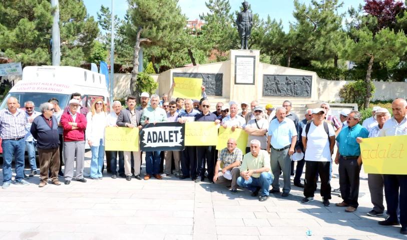 'Adalet Yürüyüşü' için Ankara'ya gittiler
