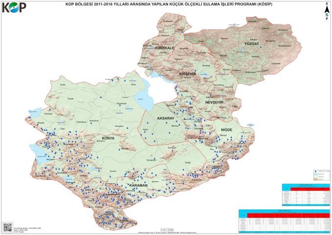 KOP'tan bölge illerine  99 milyon TL'lik ödenek