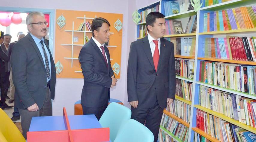 Kütüphane açılışı yapıldı