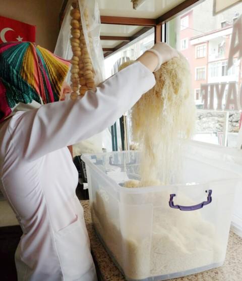 Ramazan dolayısıyla  tel kadayıf satışları arttı