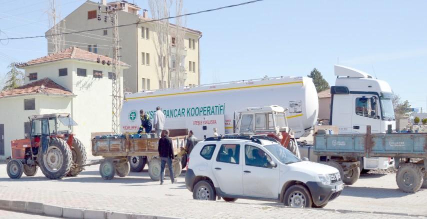 Kayseri Şeker'den çiftçilere mazot desteği