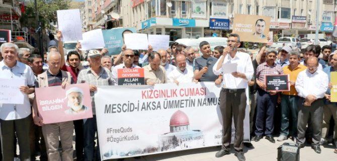 Yozgat ve Sivas'ta İsrail protestosu