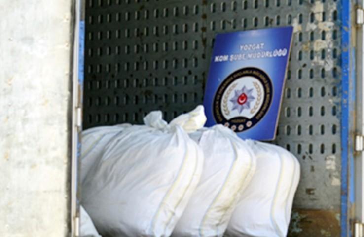 200 kg kaçak tütün ele geçirildi