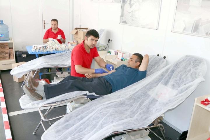 Kızılaydan kan  bağışı kampanyası