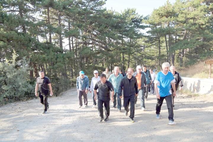 Yozgat bürokratı sağlıklı  yaşam için yürüdü