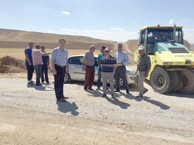 Yerköy'de grup köy yolları  asfaltlama çalışmasına başlandı