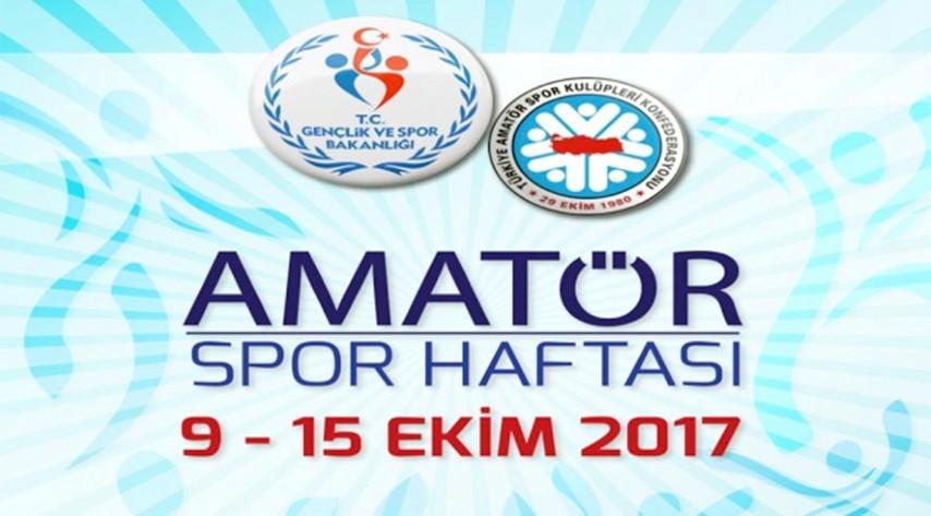 Amatör Spor Haftası  09-15 Ekim'de kutlanacak