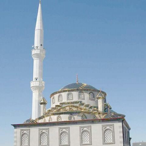 Tepedoğan Köyündeki 400 kişilik  cami inşaatı yükseliyor
