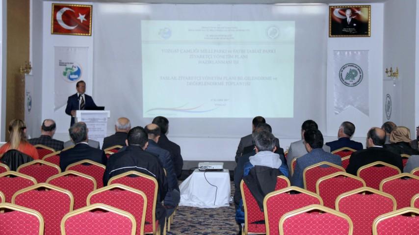 Çamlık ve Fatih tabiat parkı yönetim  planının bilgilendirme toplantısı yapıldı