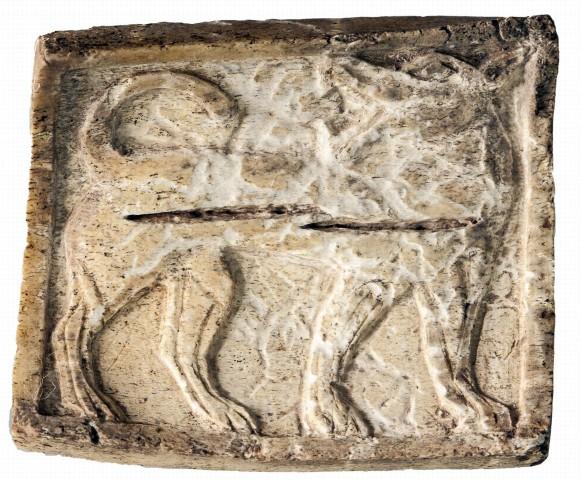 Kerkenes kazısında  kurt figürü bulundu