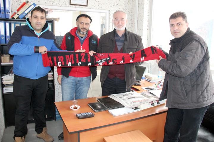 Çapanoğlu Taraftarlar Derneğinden gazetemize ziyaret