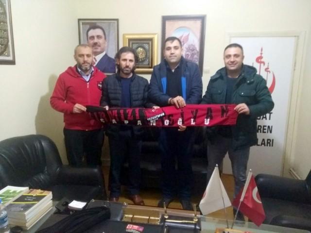 Çapanoğlu Taraftarlar Derneğinden  Alperen Ocakları İl Başkanı Çıtak'a ziyaret