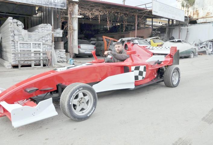 Kaporta ustasından 'Formula 1' aracı