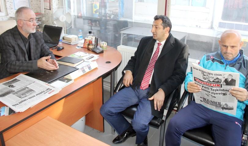 Akgün ve Yavuz'dan  gazetemize ziyaret
