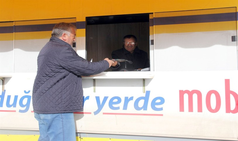 PTT mobil aracı hizmete girdi