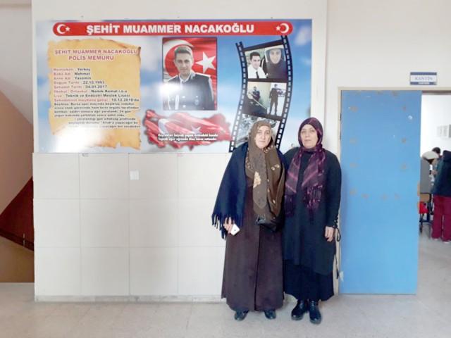 Şehit Nacakoğlu'nun ismi okulda yaşayacak