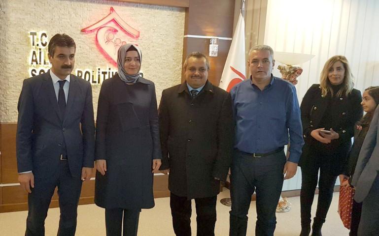 Dernek başkanlarından, Bakan Kaya'ya ziyaret